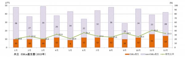 ESBLs菌耐性菌比率