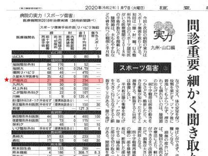 2020年1月7日 読売新聞朝刊に当院が掲載されました!