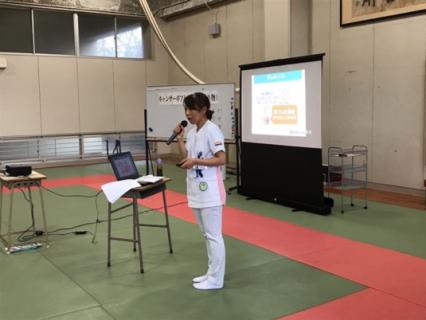 福岡県立東筑高校の「がん教育」の講義に、戸畑共立病院がん相談支援センター専従看護師として講演を行って参りました