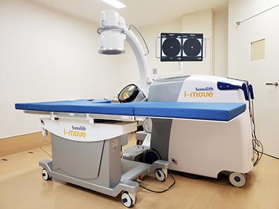 腎・尿管体外衝撃波結石破砕装置Sonolith i-moveを新規導入いたしました