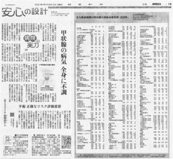 読売新聞8月18日全国版に当院が掲載されました!