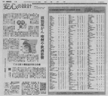読売新聞9月15日全国版に当院が掲載されました!